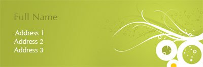 Lime Green and White Circles Address Label Template